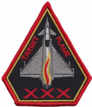 No. 29 (F) Squadron RAF Exercise Target Flame Eurofighter Typhoon Spearhead Embroidered Patch